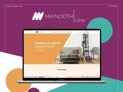 Maynooth Furniture - website ui/ux design furniture website ux illustration branding daily 100 daily 100 challenge adobexd app design adobe photoshop ui adobe xd