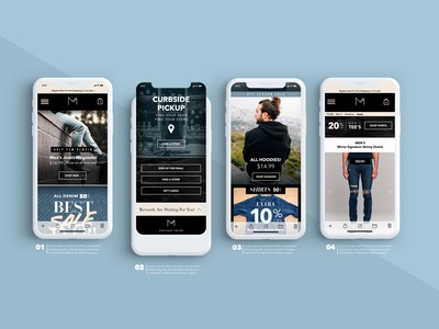 Mirror Clothing Co. Mobile Mockup ux ui design branding