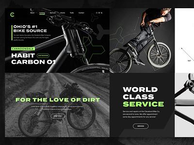 Cleveland Bike Co. Mashup logo website branding ux ui design