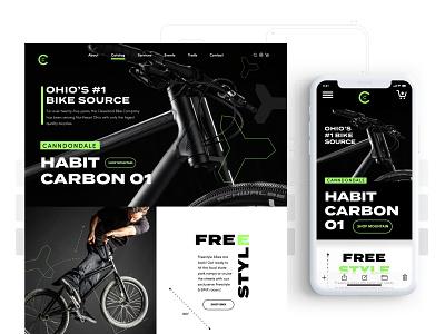 Cleveland Bike Co. Responsive website branding ux ui design