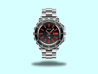 Wristwatch realistic illustration branding gradient illustration design wristwatch chrome illustration