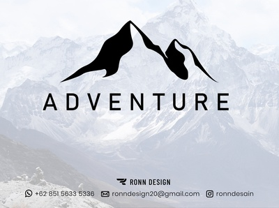Adventure Logo unique logo simple logo minimalist logo adventure logo mountain logo logo