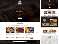 BBQ Recipe Website Redesign