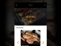 Mobile View of Responsive Recipe Site