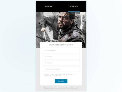 SideReel Mobile Sign Up