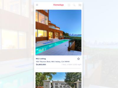 Real Estate Application Design