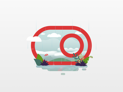 Wet Season inside Toggle rain raindrops logo icon flat illustration design 20scoops