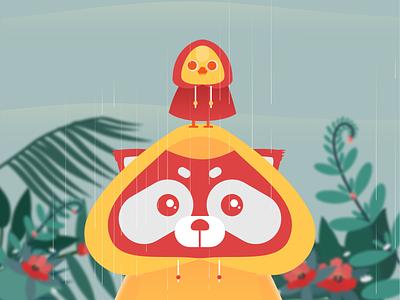 We're the 20Scoops CNX's Mascots. mascots raincoat rain raindrops icon illustration design 20scoops