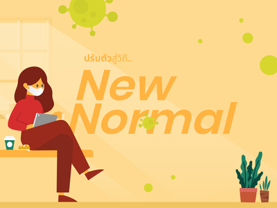Adapt to the New Normal lifestyle life normal business workplace pandemic covid19 design vector icon flat illustration 20scoops