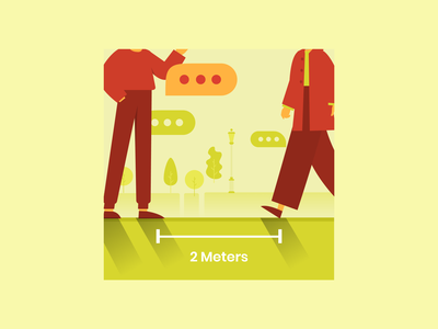 Social Distancing socialdistancing 2m keep a space red green stayhome covid19 covid-19 vector icon flat illustration design 20scoops