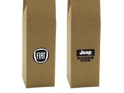 Opakowanie z logo Jeep Fiat brand wine fiat jeep