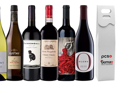 Opakowania prezentowe wine logo prezentowe opakowanie