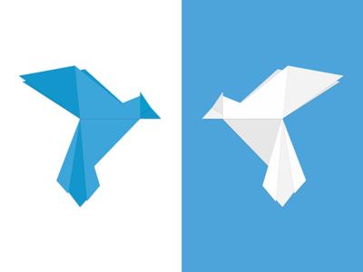Origami Bird logo illustration graphic design origami bird origami bird