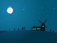 Windmill Nightscape
