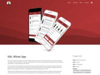 K&L Wines Store App Portfolio Page