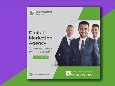 Multipurpose Business Social Media Post Free PSD Template banner ads corporate flyer corporate branding corporate design banner design social media design poster design print illustration branding product design
