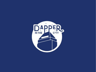 Dapper in the City Logo stylized illustration logos logodesign logo designer design