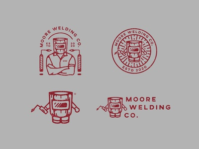 Moore Welding Co. - Logo Exploration industrial logo welding illustrations logodesigns wordmark minimalistic minimalist minimalism logos logodesign illustration logo designer design