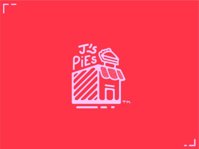 J's Pies - Hand Drawn Logo Concept cartoonlogo cartoon logodesigner freehand pie vector minimalistic minimalist minimalism logos logodesign illustration logo designer design
