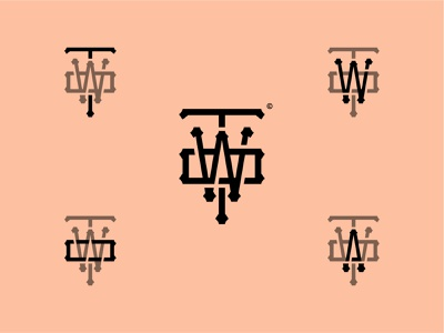 TWoA Monogram monogram logo monograms monogram wordmark typeface minimalistic minimalist minimalism logos logodesign logo designer design