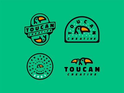 Toucan Creative - Logo Suite bird creative design creative toucans toucan typeface minimalistic minimalist minimalism logos illustration logodesign logo designer design