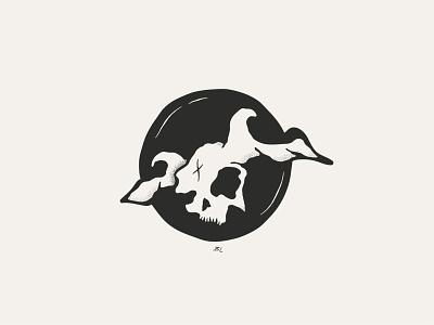 Flying Horned Skull - Seen in the Clouds inspiration cloud clouds doodle skulls skull drawing branding minimalism illustration logos designer design