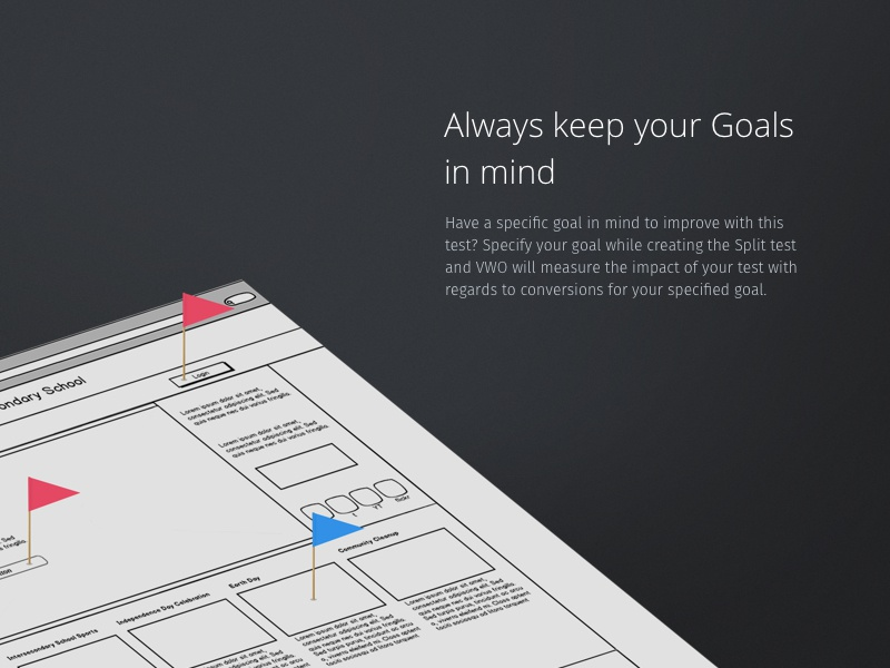 VWO Goals - Always keep your Goals in mind