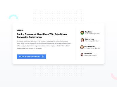 Webinar Model for Website tile ux white ui card ab testing webinar