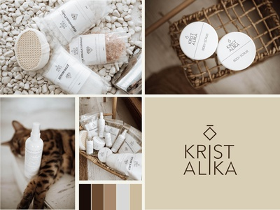 Kristalika ukrainian brand of eco-friendly cosmetics label packaging salt form style logodesign cosmetics identity logotype type branding typography logo graphic design