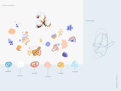 "Logo for children's clothing brand ""Dziga"". Рart 4 baby clothes logotype character identity type illustration typography branding logo graphic design"