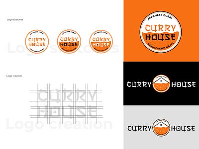"""Identity for Japanese restaurant """"Curry House"""" illustration type restaurant branding logotype art typography logo for restaurant japanese curry graphic design branding logo identity"""