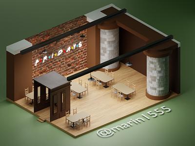 Restaurant/Fastfood inspiration 3dmodel restaurant work new inspo modeling blender3d composition 3d animation blender3dart blender 3d artist 3d art 3d