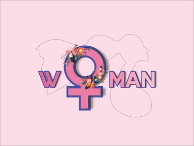 Happy Women's Day adobe illustrator international womens day womensday womens web pink flat design illustration
