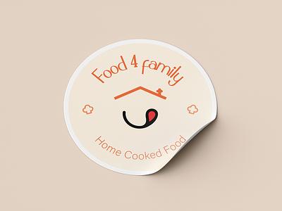 food 4 family freelance designer freelance creative logo creative design food logo food restaurant logo restaurant brand freelancer freelance design logotype branding logo