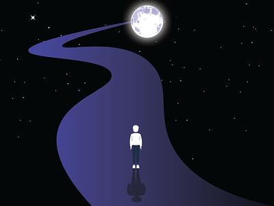 IN THE NIGHT aesthetic minimal creative nftart ntf weeklywarmup dribbbleweeklywarmup ux ui design art vector illustrations illustration