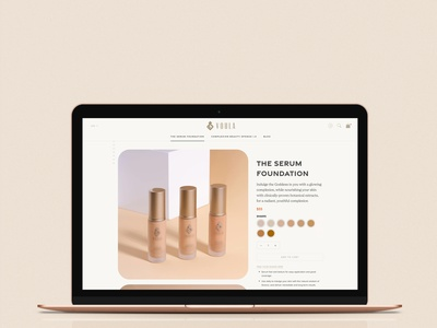 Voula Beauty - Shopify Product Page for Beauty Brand shopify theme shopify branding graphic design ui