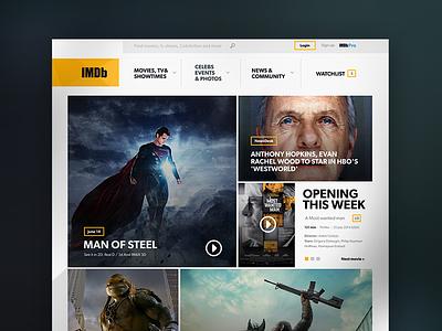 IMDB - Redesign imdb flat modern minimal ui interface ux web design redesign