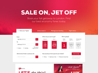 Virgin America Web UI Redesign