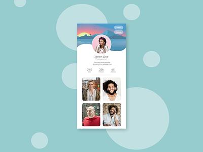 User Profile design ux ui user profile