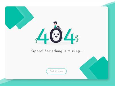 404 Error Page dailychallenge ux 404page design dailyui uiux ui