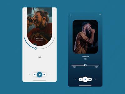 Music player music player design dailyui uiux ui