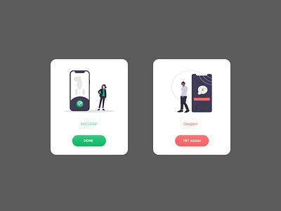 Flash Message UI dailychallenge dailyui ux ui design