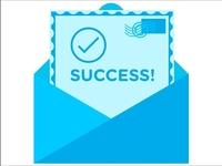 Success message graphic
