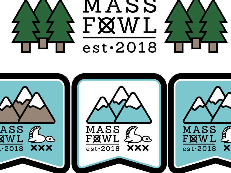 Mass Fowl winter hiking mountains outdoors shotgun duck banner waterfowl hunting