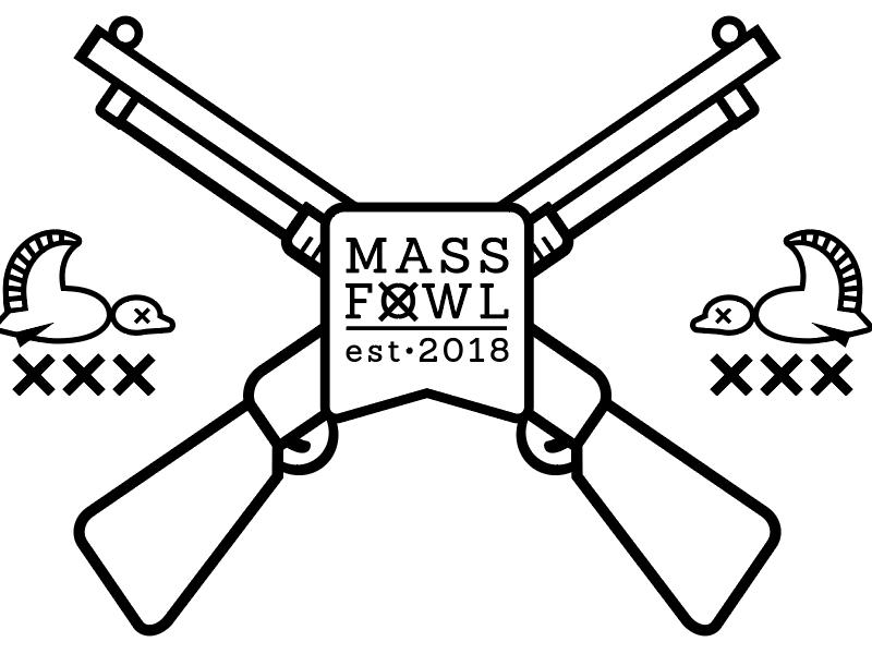 Mass Fowl Logo winter hiking mountains outdoors shotgun duck banner waterfowl hunting