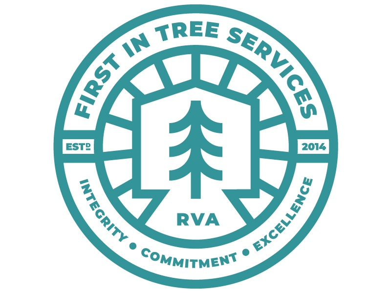 First In Badge trees emblem seal service logo outdoors tree badge