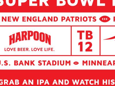 Harpoon Super Bowl Banner