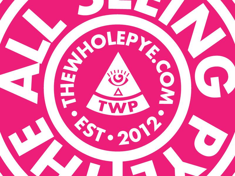 The All Seeing Pye stamp icon branding circle logo logo eye triangle all seeing eye badge