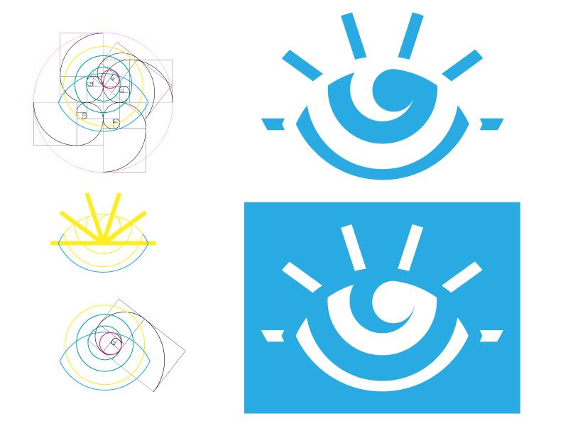 All Seeing Eye grid golden rectangle geometric golden ratio outline eye all seeing eye