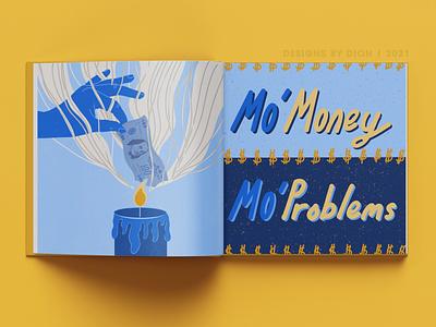 Mo Money Mo Problems graphic design typography vector art minimal illustrator illustration flat design